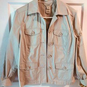 Women's LLBean light weight 5 pocket khaki Jacket